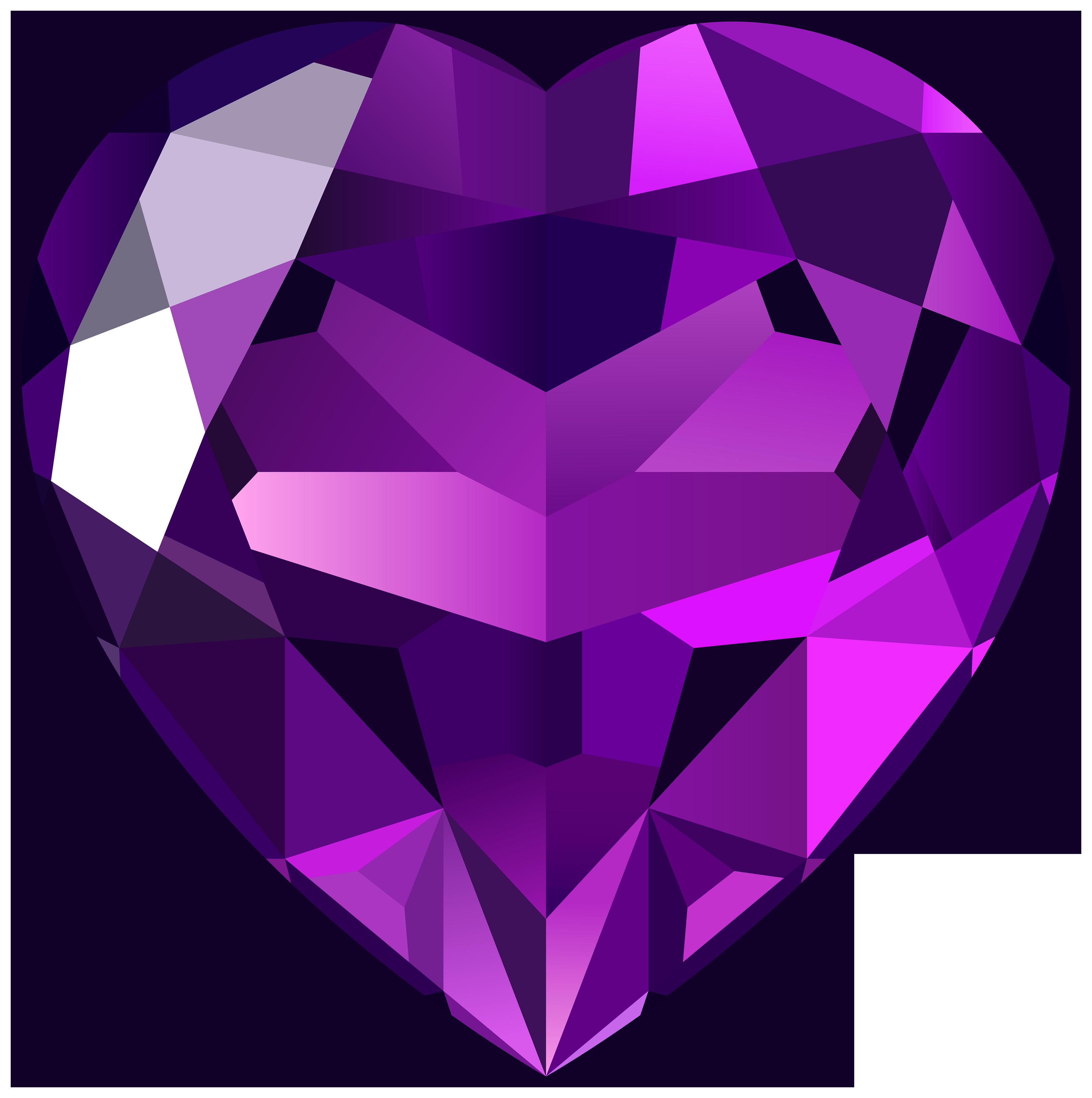 Purple download hearts pinterest. Crystal clipart heart