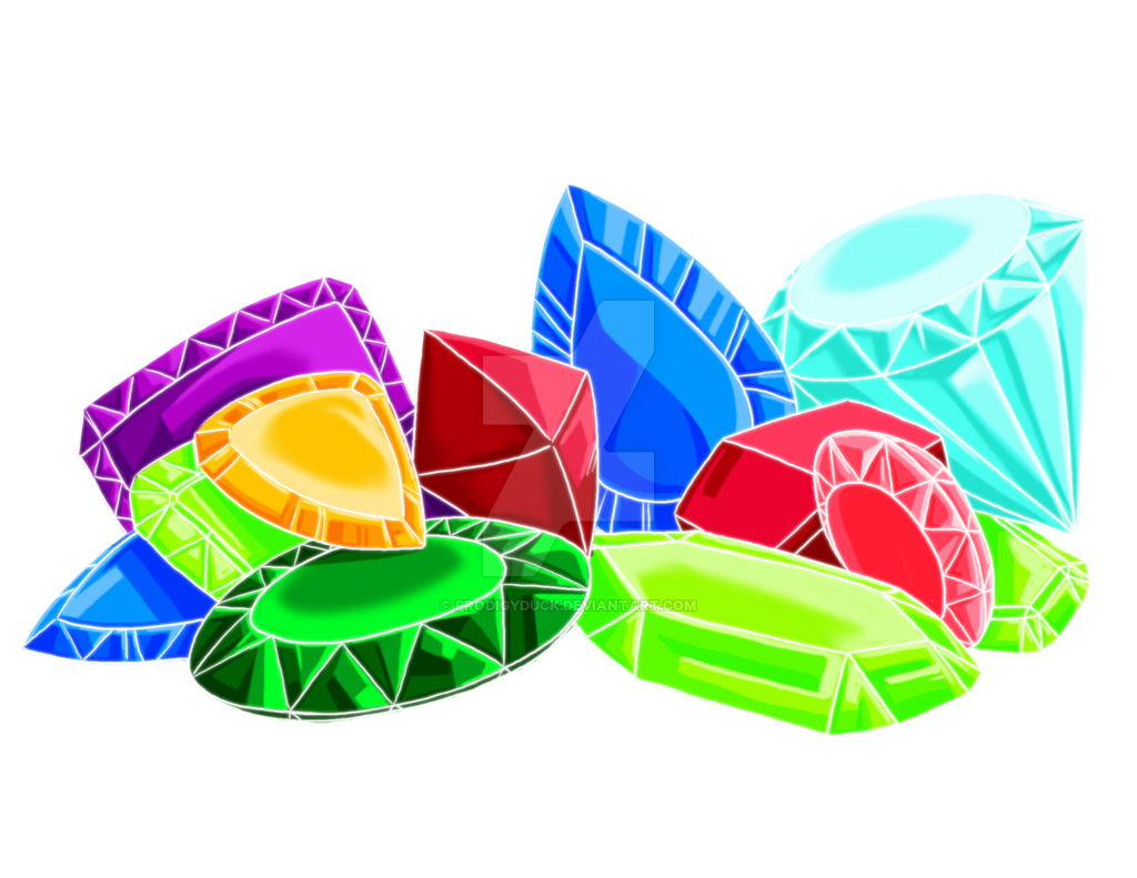 collection of jewels. Treasure clipart pile diamond
