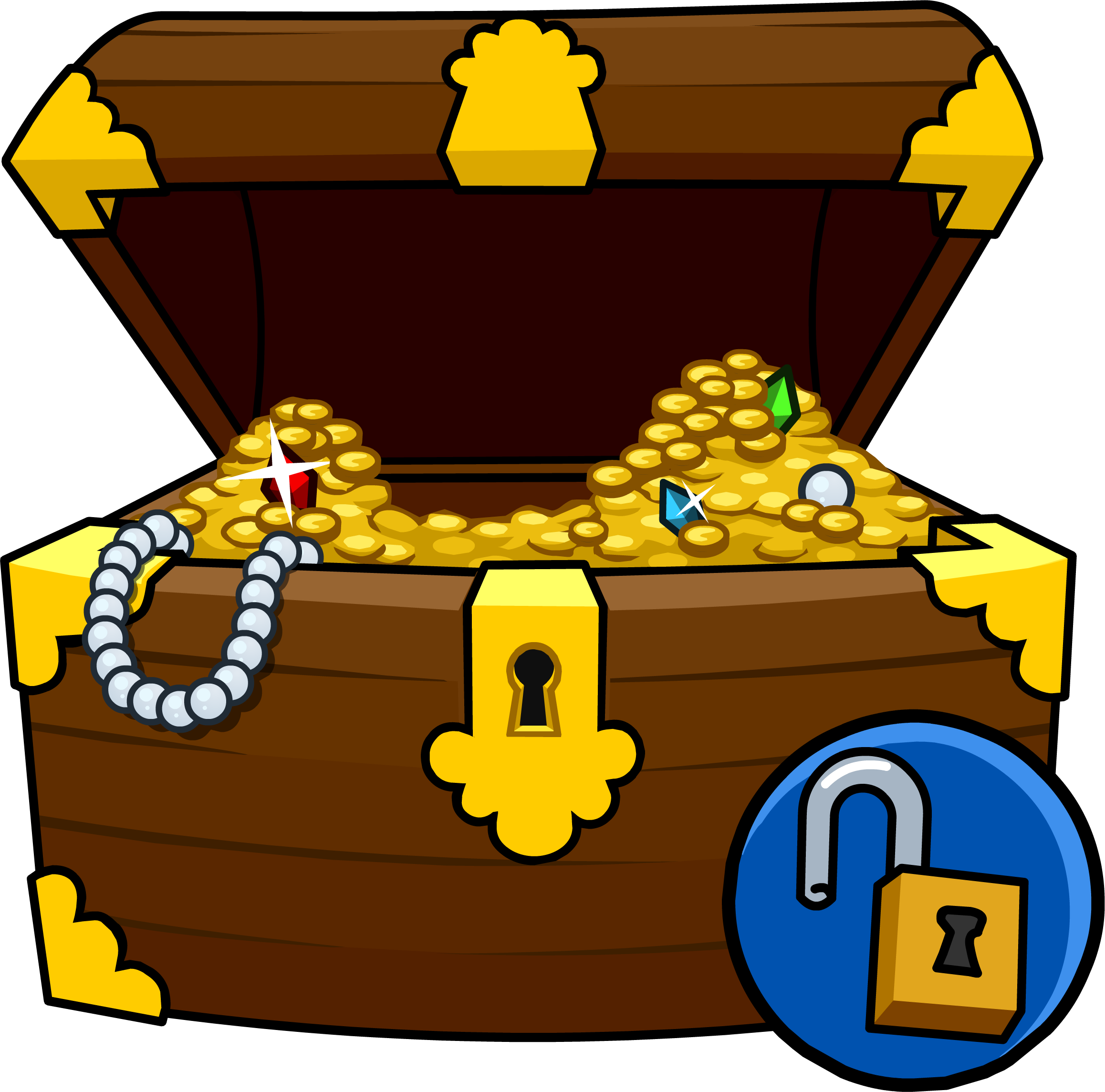 Sizable pictures of chests. Diamonds clipart treasure