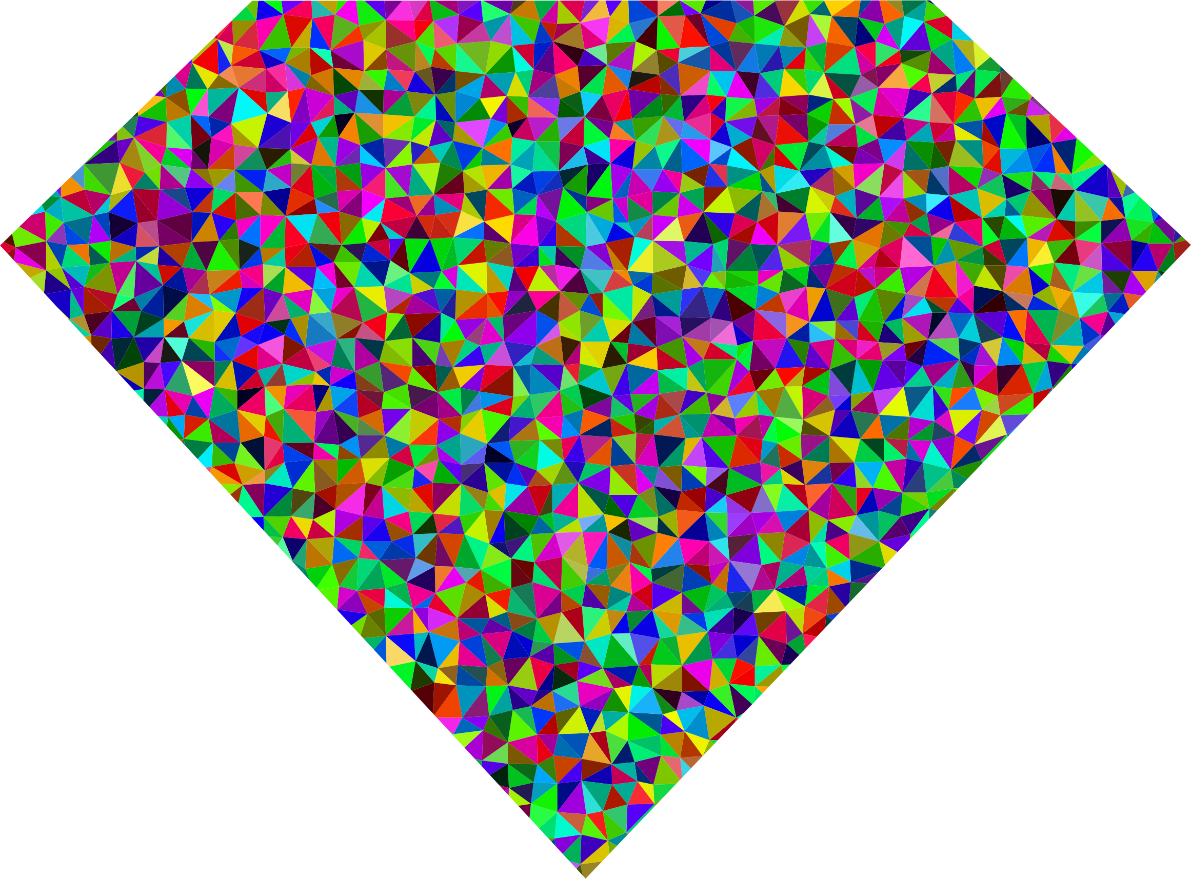 Prismatic low poly diamond. Diamonds clipart triangle