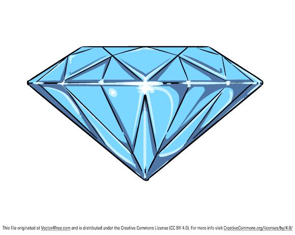 Diamond clipart vector. Free download clip art