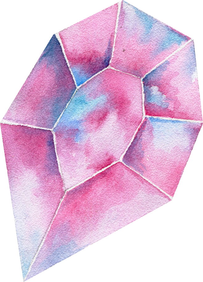 Diamond clipart watercolor. Gem handpainted colorful colorsplash
