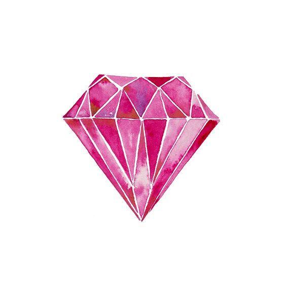 Diamond clipart watercolor. Download gem painting gemstone