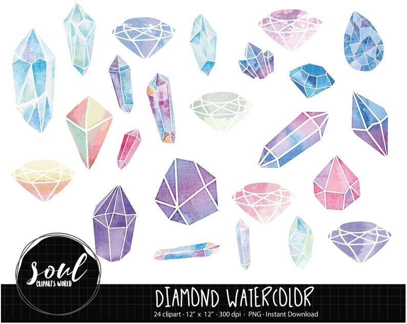 Diamond clipart watercolor. Cod cliparts commercial use