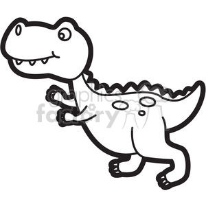 Trex clipart black and white. Dinosaur cartoon in royalty