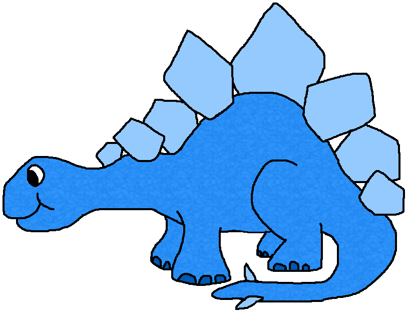 collection of blue. Funny clipart dinosaur