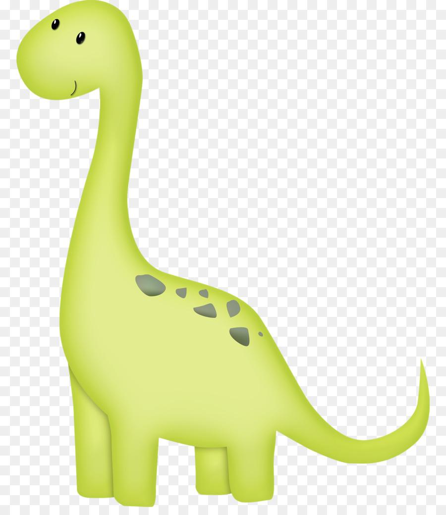 Clipart dinosaur brachiosaurus. Green grass background birthday