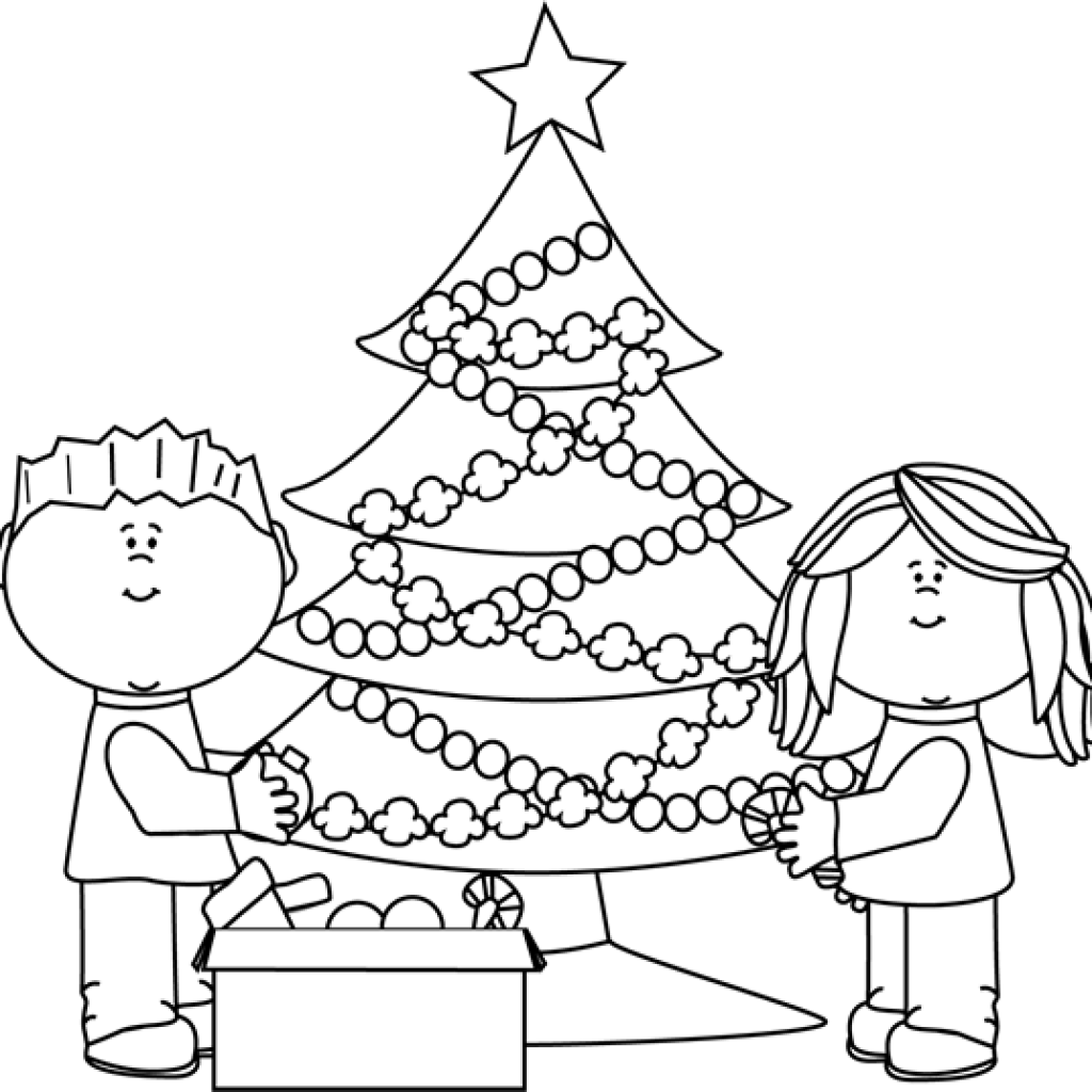 Tree clipart valentines day. Christmas black and white