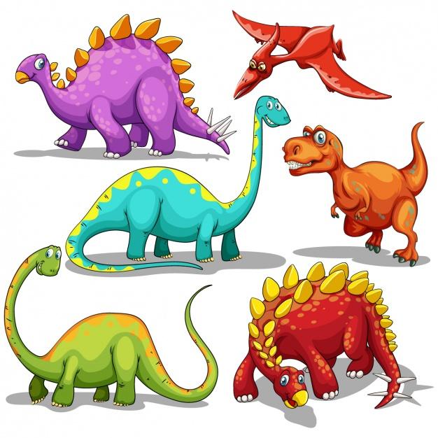 Dinosaur clipart coloured.  dinosaurs clipartlook