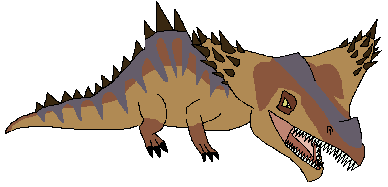 Crocodile clipart dinosaur. Image diplotator png pedia