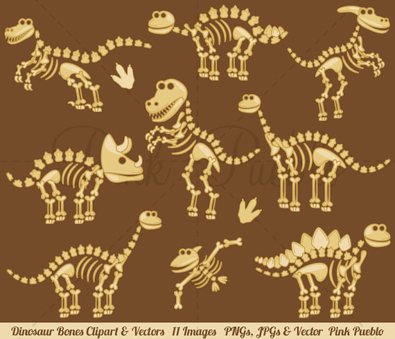 Dinosaur clipart dinosaur bone. Bones clip art