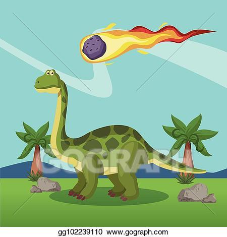 Eps vector in the. Clipart dinosaur dinosaur extinction