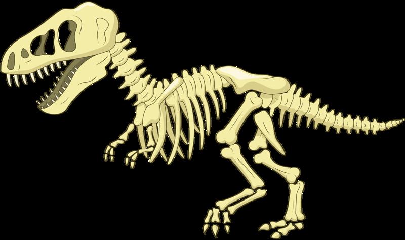 Bone cartoon clip art. Clipart dinosaur dinosaur skeleton