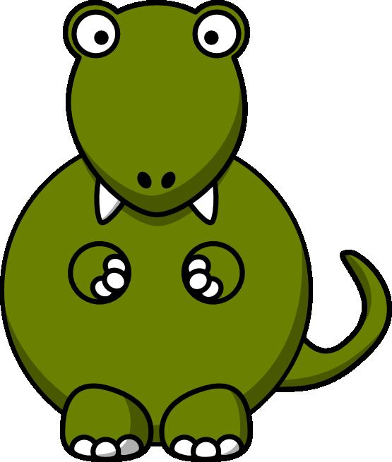 Mascot. Fat clipart dinosaur