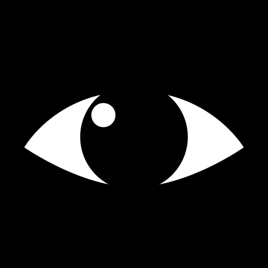 Eyes black and white. Eye clipart clip art