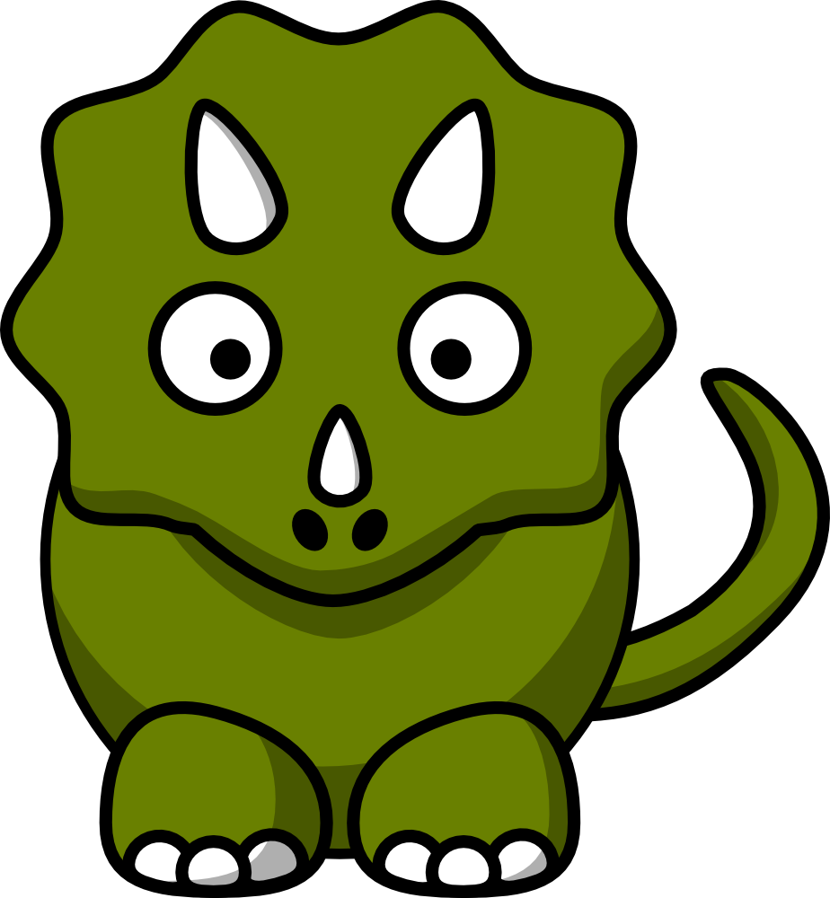 Clipart eye turtle. Cartoon triceratops a pins