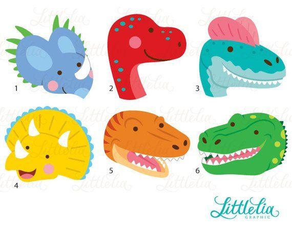 Dino face products . Dinosaurs clipart dinosaur head