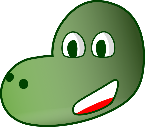 Dinosaur head clip art. Snake clipart comic