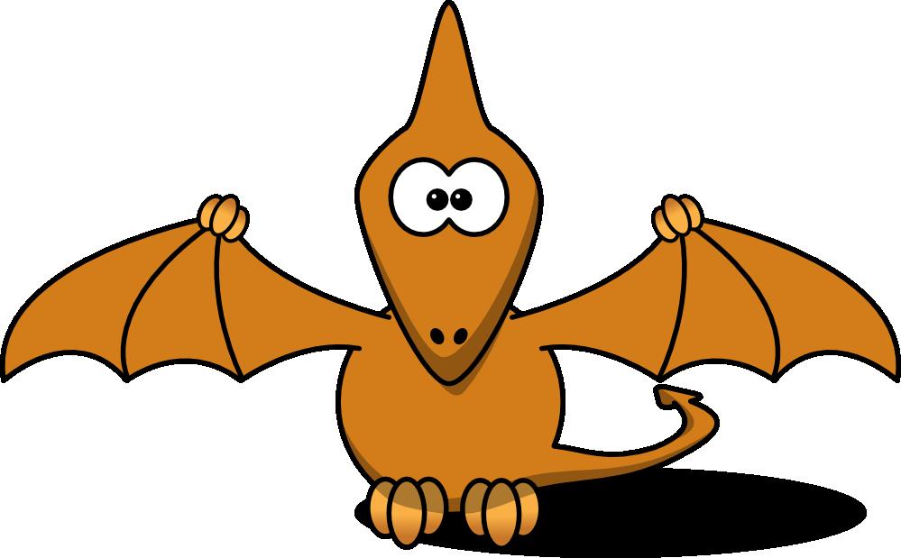 Dinosaur flying mascot. Trex clipart skull
