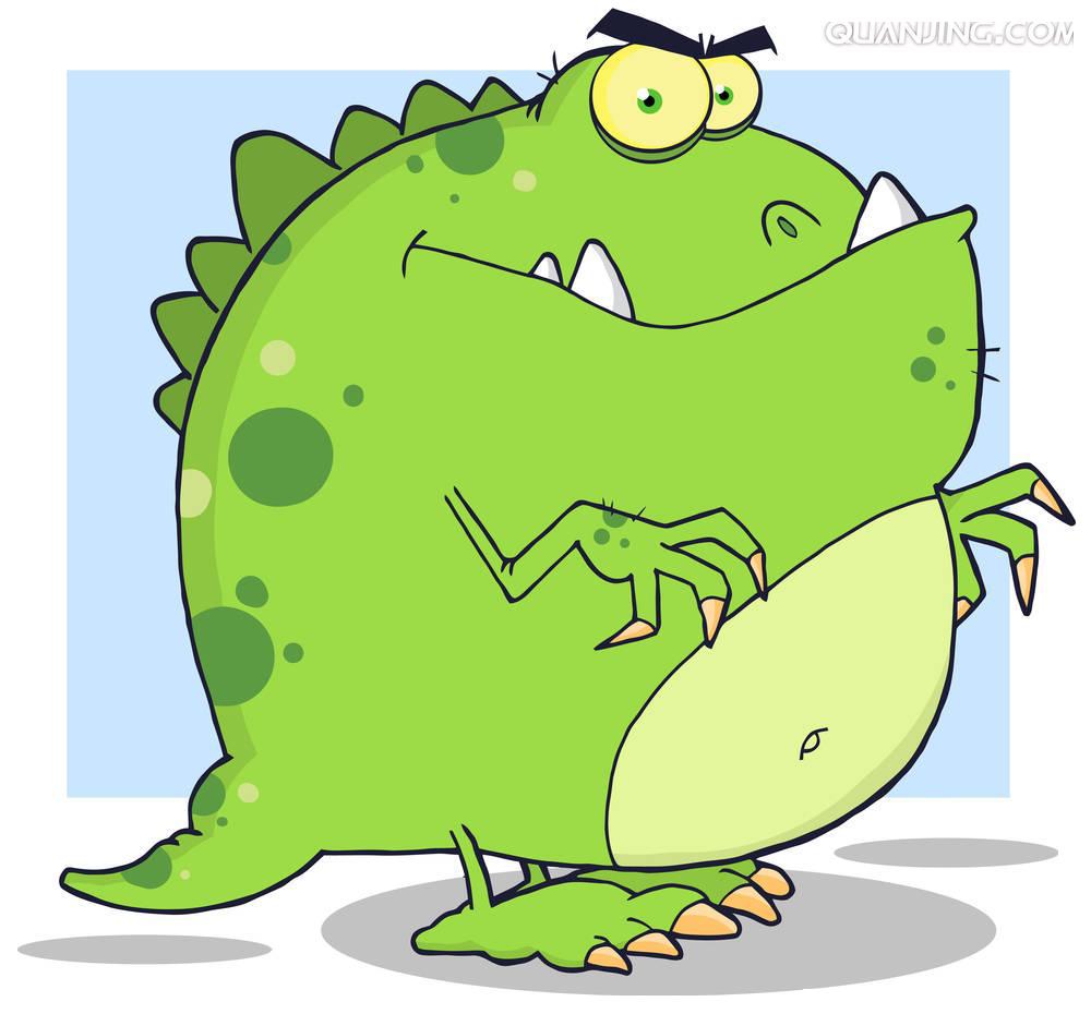 Fat clipart dinosaur. Monster clip art cartoon