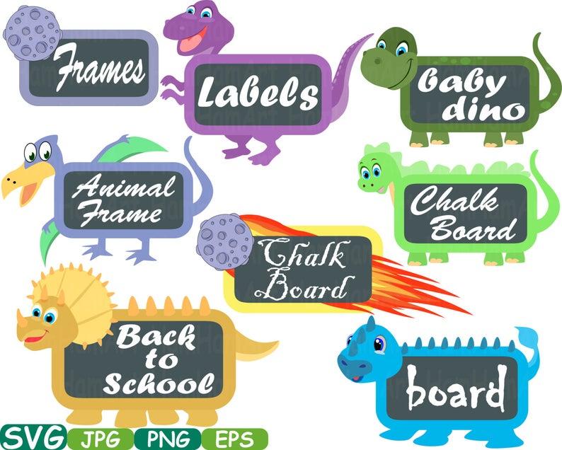 Chalk board frames svg. Clipart dinosaur frame
