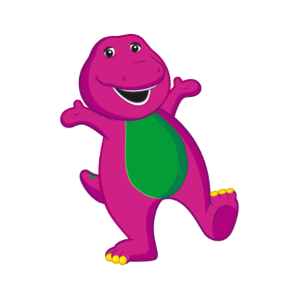 Clipart dinosaur friend. Barney and friends at