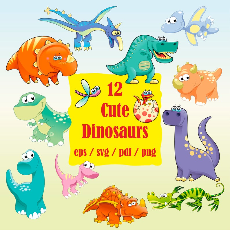 Clipart dinosaur friend. Svg dino baby party