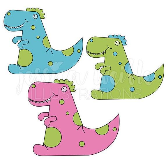 Clipart dinosaur friend. Dino cute digital commercial