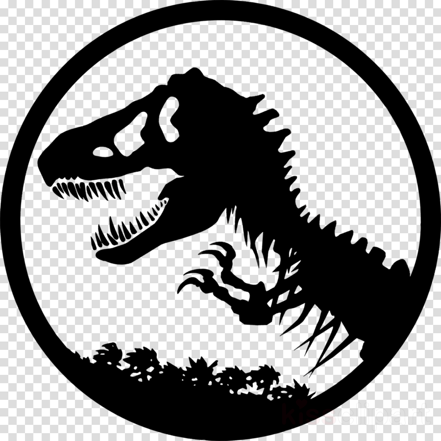 Jurassic park logo mouth. Clipart dinosaur head