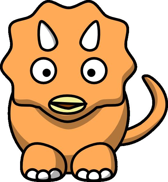 Clipart dinosaur head. Orange clip art at