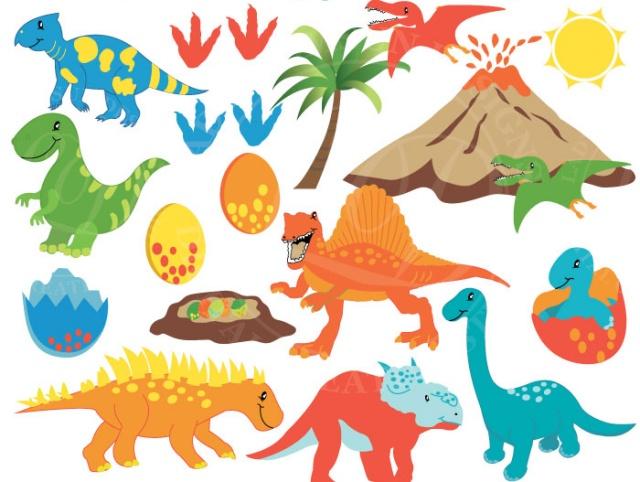 Trex clipart vector. Dinosaur graphics prehistoric baby