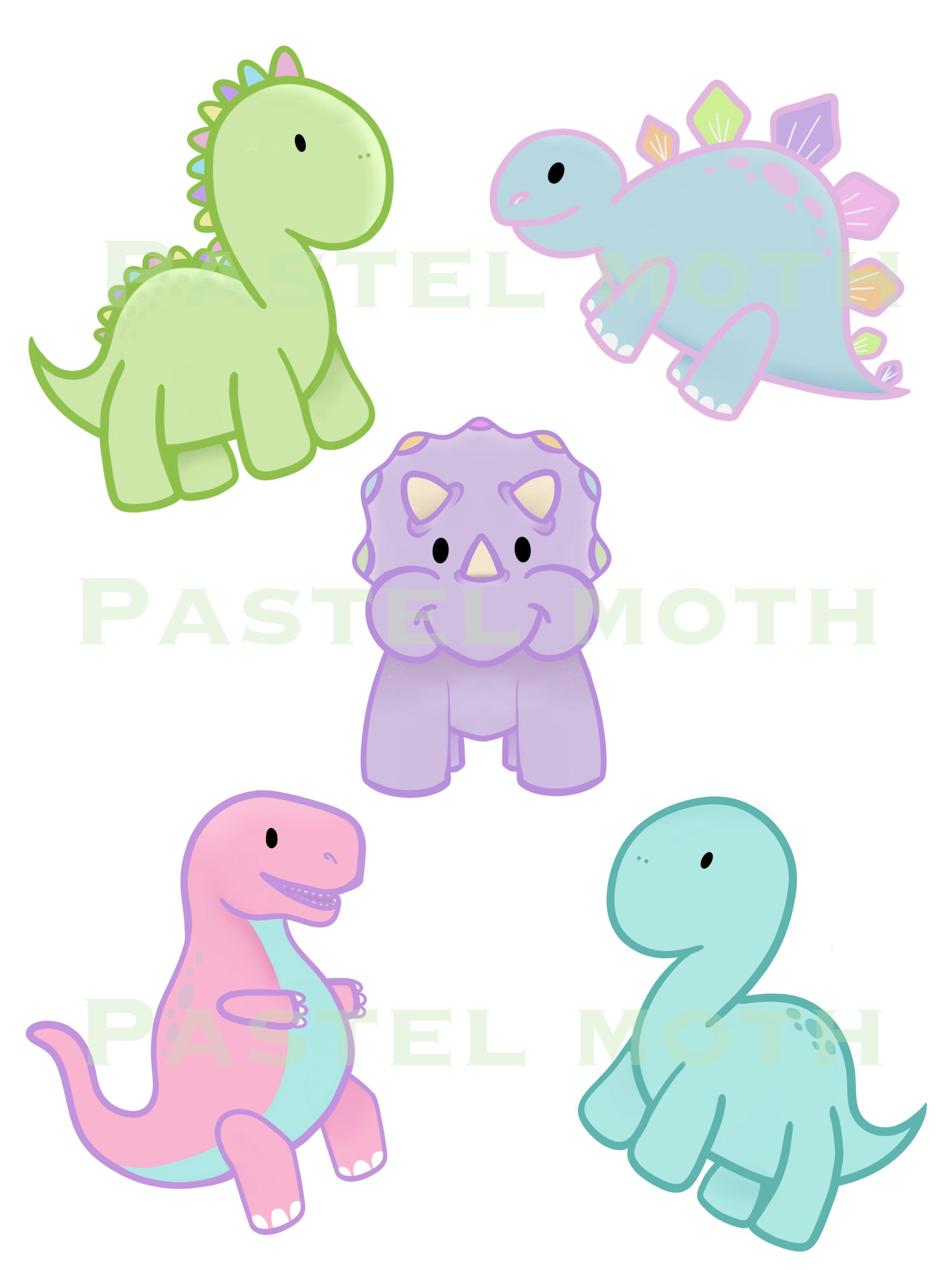 Cute pastel png jpeg. Clipart dinosaur kawaii