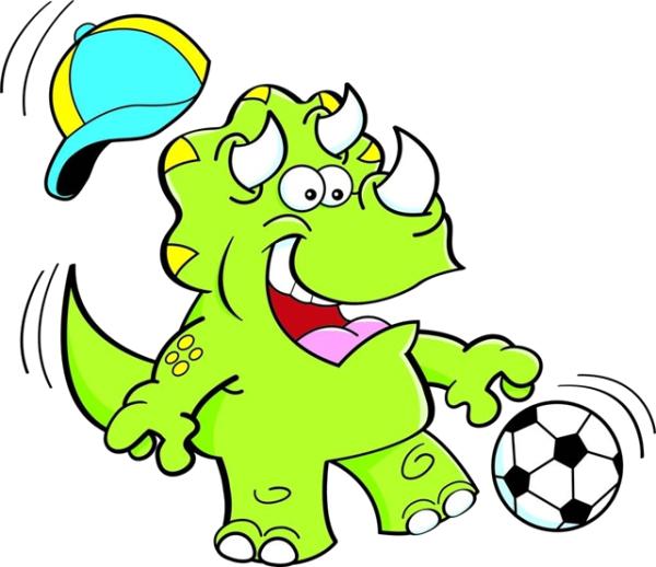 Triceratops football clip art. Dinosaur clipart triceratop