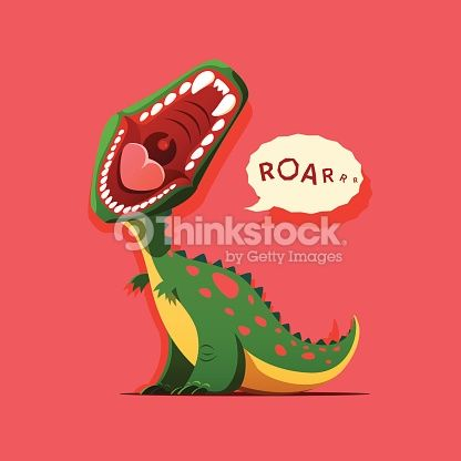 Clipart dinosaur mouth. Cartoon with open google