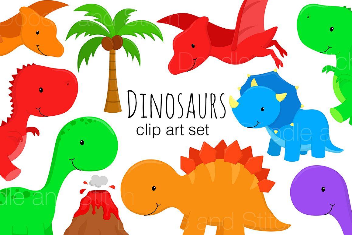 Illustrations . Clipart dinosaur number
