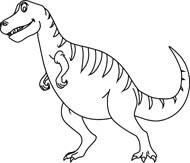 Free black and white. Dinosaur clipart outline