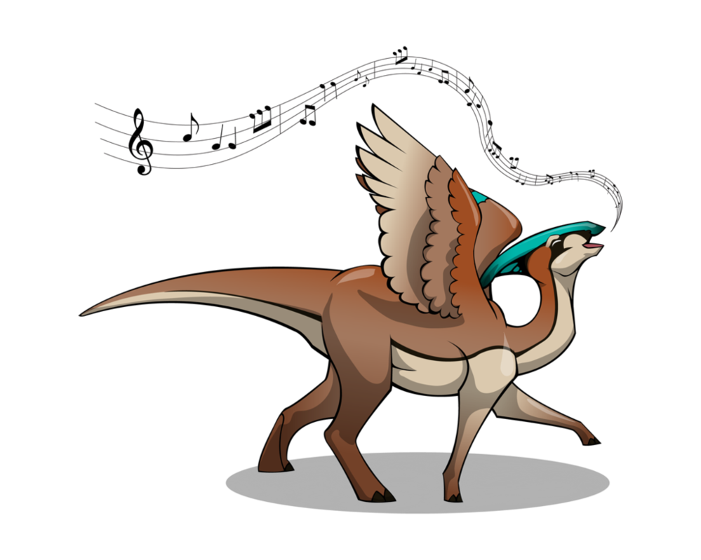 Clipart dinosaur parasaurolophus. Song of the by