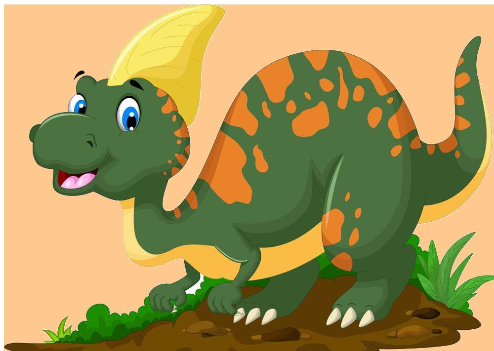 Tyrannosaurus triceratops reptile cartoon. Clipart dinosaur parasaurolophus