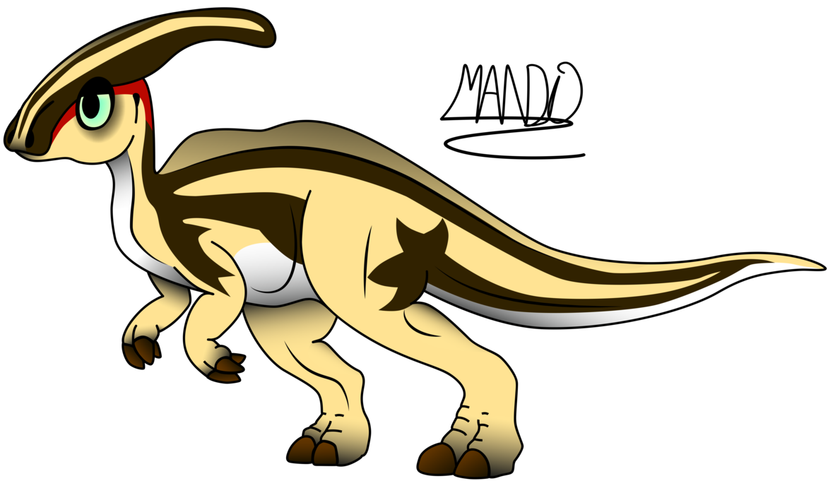 Clipart dinosaur parasaurolophus. By rainbowarmas on deviantart