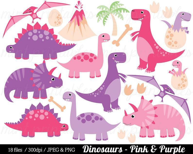 Purple dinosaurs clip art. Clipart dinosaur pink