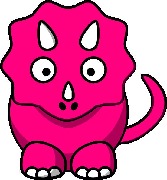 Baby clip art at. Clipart dinosaur pink