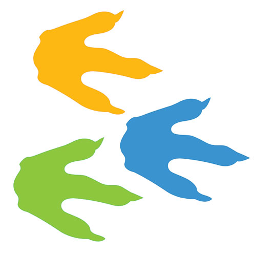 Free footprints cliparts download. Clipart dinosaur print