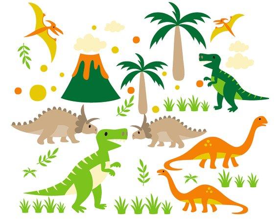 Dinosaurs clip art invitations. Clipart dinosaur printable