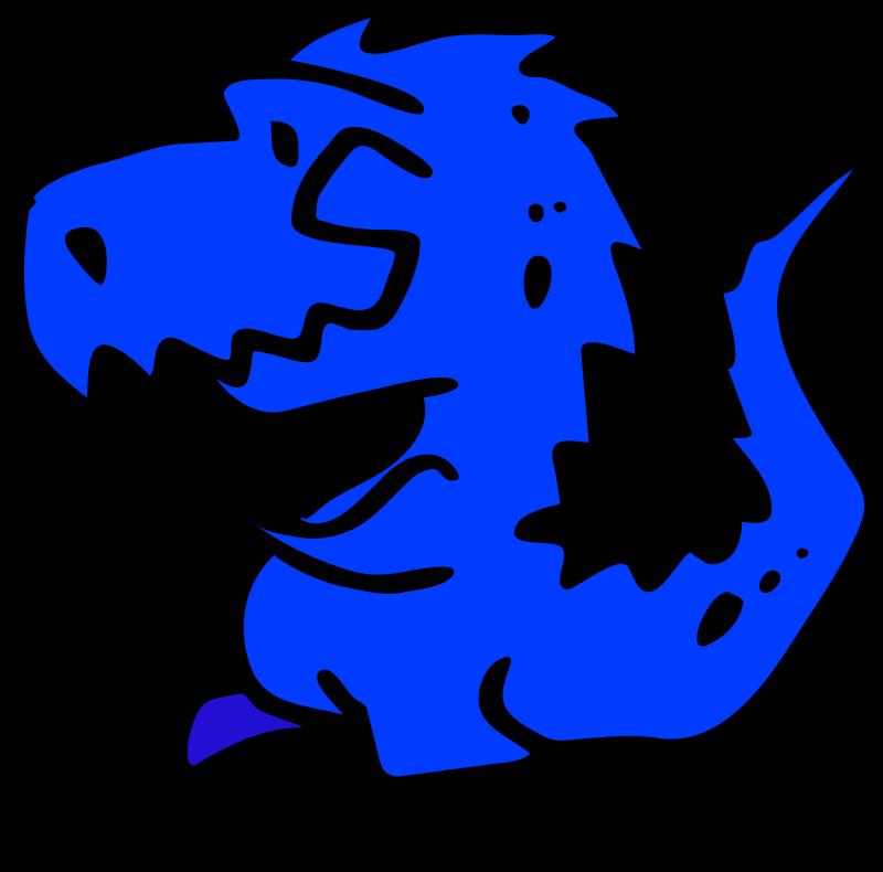 Clipart dinosaur printable. Blue medium image png