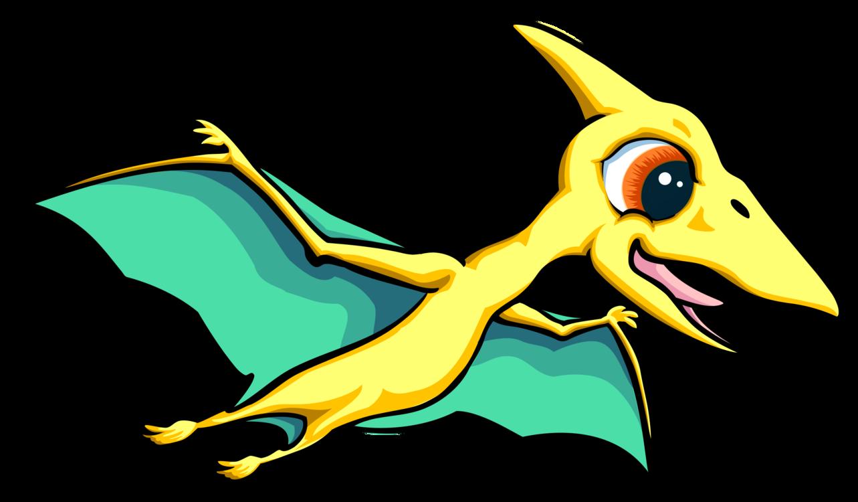 Dinosaur clipart pteranodon. Art beak yellow png