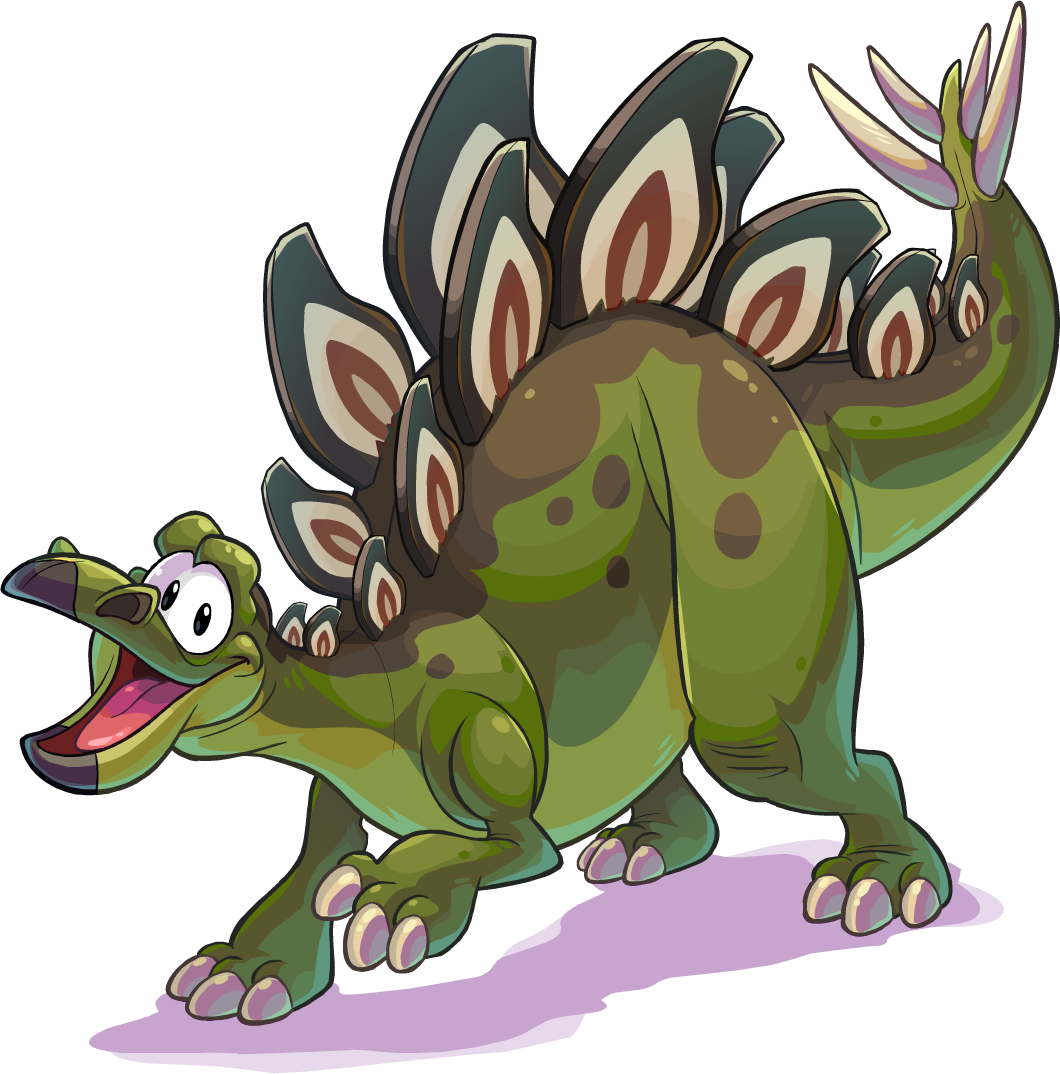 Fossil clipart stegosaurus. Club penguin wiki fandom