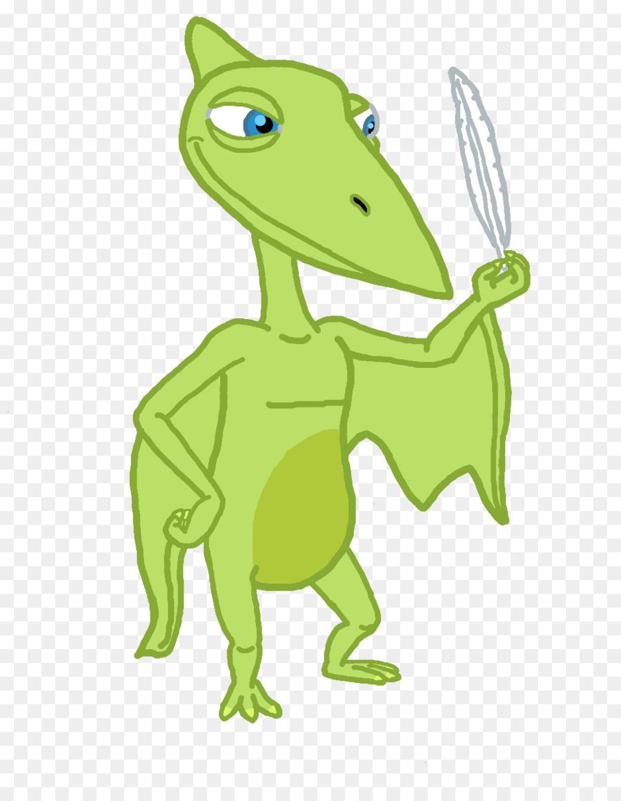 Green cartoon . Dinosaur clipart pteranodon