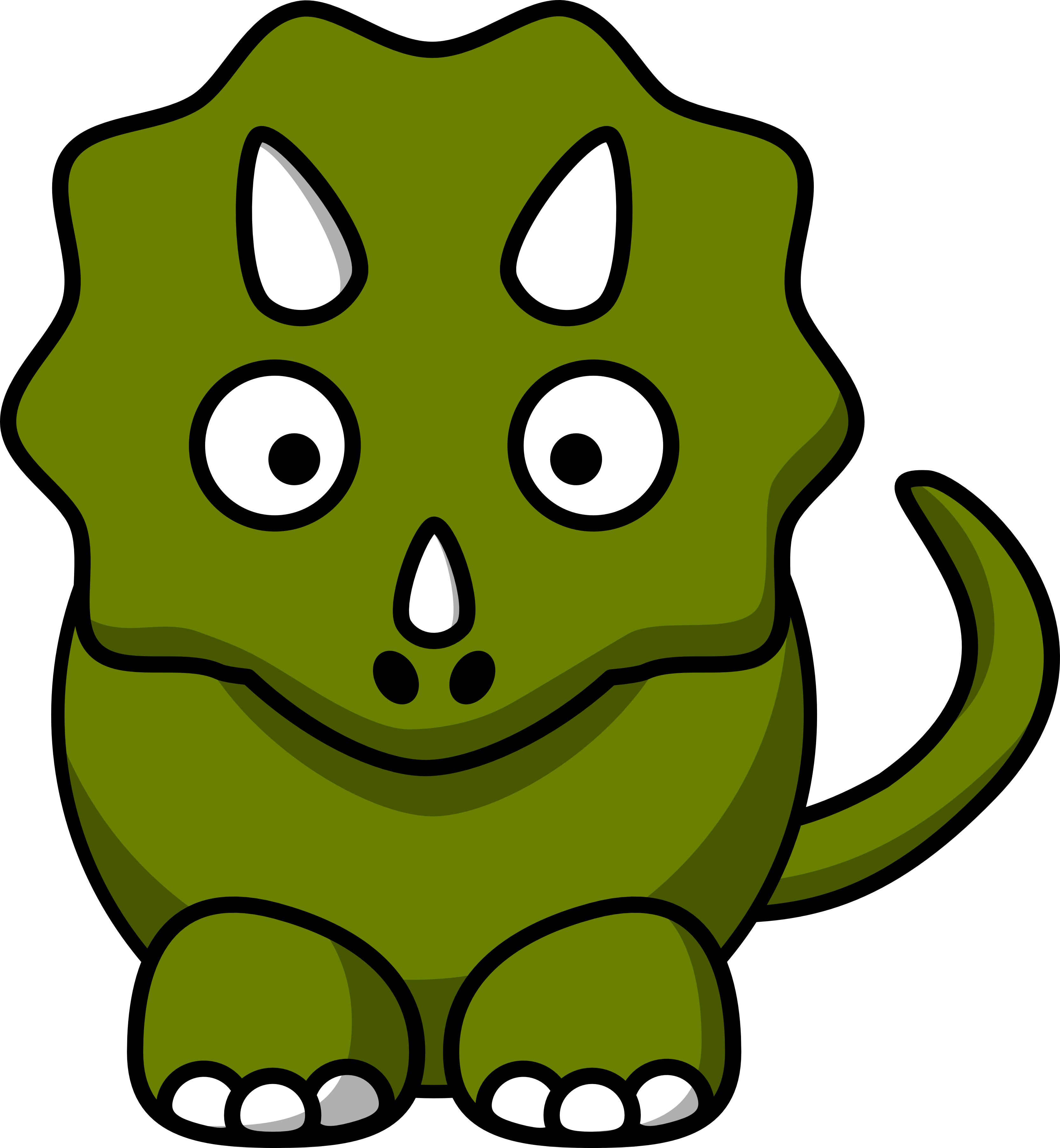 Triceratops black and white. Dinosaur clipart poop