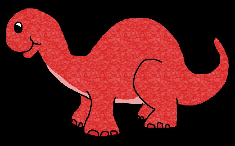 clipart dinosaur red