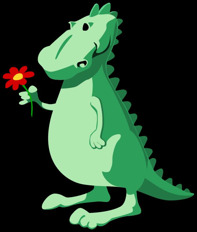 Flower clip art riding. Clipart dinosaur red